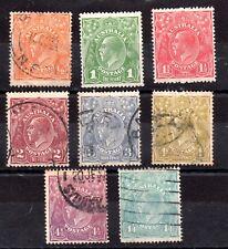Australia 1926-30 KGV fine used set SG85-93 WS8791