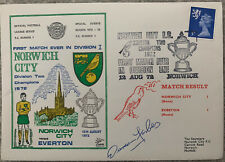 More details for norwich city v everton 1972 first day cover signed by duncan forbes