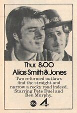 1972 ABC TV AD~ALIAS SMITH & JONES PETE DUEL & BEN MURPHY~TWO REFORMED OUTLAWS