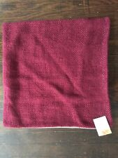 Pottery Barn Faye Textured Pillow Cover NEW Merlot Claret 20x20