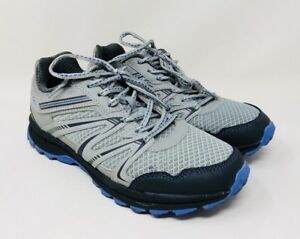 FILA Women's Northampton Trail Hiking Athletic Shoe Grey/Blue, Pre-owned