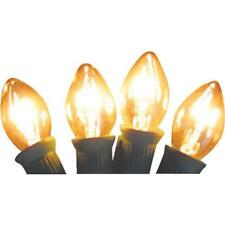 125 Pk Clear C7 5 Watt 125V Replacement Christmas Tree Light Bulb @ 4/Pk 1415-02