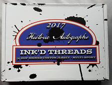 2017 Historic Autographs Inked Threads Jersey Box Curry, lebron, Jordan, Brady