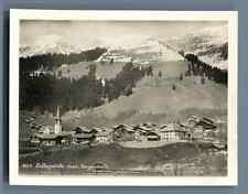 Suisse, Bellegarde (Jaun Dorf), Vue générale  Vintage silver print. Switzerland.