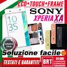 DISPLAY LCD+TOUCH SCREEN+FRAME ORIGINALE PER SONY XPERIA XA F3111 SCHERMO VETRO!