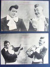 fantaisie,bergeret ,série de 5 cartes ,les clowns...