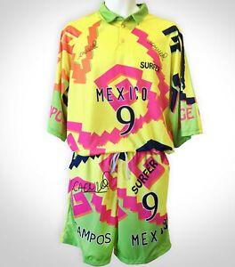 Jorge Campos Soccer Uniform  VINTAGE  all sizes, Yellow, Amarillo, Goalkeeper #1