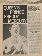 1984 Queen's Freddy Mercury - 2-Page Vintage Rock Music Article