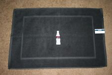 """Coca Cola ZERO Inspired""Bottle 1 Cannon BlackTerry Bath Mat white/red embroider"