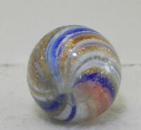 8284m Handmade Onionskin Lutz Vintage German Marble .67 Inches
