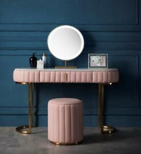 Vanessa Dresser Set/Dressing Table/With Stool/Marble Table Plus Makeup Mirror