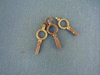 Lot de 3 clés clé clef pour montres à gousset ancienne horlogerie