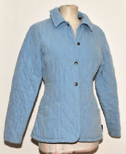 GREAT LADIES BARBOUR SHAPED MICROFIBRE QUILT SHORT JACKET SIZE 10 LIGHT BLUE
