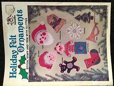 1984 Holiday Christmas Felt Ornaments- Stitch,Stuff, Glitter Patterns Craft Book