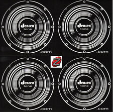 4  Black Jensen Speaker Stickers on one sheet New