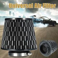 Universal 3'' 76mm Carbon Finish Car Air Filter Mesh Cone Intake Induction Kit