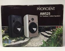 "Proficient Audio AW 525 5 1/4"" Outdoor/Indoor Speakers 2 Way 1 Pair White"