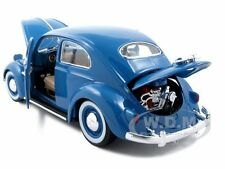 1955 VOLKSWAGEN KAFER BEETLE BLUE 1:18 DIECAST MODEL CAR BY BBURAGO 12029