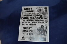 Eddie George & Paul Masotti SIGNED AUTOGRAFO a4 in persona American Football