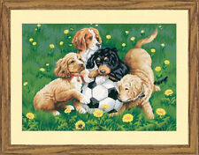 BALL GAME Paint by Number Kit; Dog Puppy Soccer