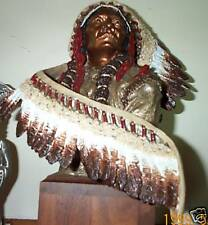 Peter C. Sedlow Masterworks Pewter Painted Sitting Bull Ultra Rare Cheif Bust.