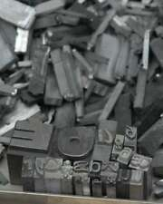 4,9 kg caractères en plomb lettres typographie imprimerie letterpress tampon