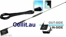 9dB DELUXE MOBILE PHONE/MODEM GLASS MOUNT CAR ANTENNA GSM 3G LTE/4G AERIAL KIT