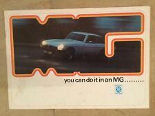 MG 1974-75 UK Market Sales Brochure Midget MGB Roadster GT V8