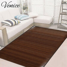 Venice Bamboo 6' X 9' Floor Mat, Area Rug Indoor Carpet Walnut Color Finish