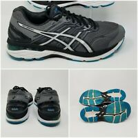 Asics GT 2000 Mens Black Blue Running Athletic Sneakers Shoes Mens Size 9.5