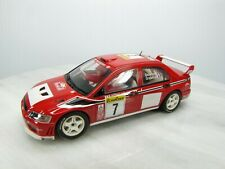 MITSUBISHI LANCER EVO VII 4WD Slot Car AUTOart 1/32 - # 7 Red - RALLI ART - Used