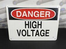 """Safety Signage Reads """"Danger High Voltage"""" 14"""" x 10"""" Plastic - Model 48602"""