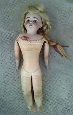 ancien poupee tete buste porcelaine SH 1040 DEP 8 antique doll corps parisienne