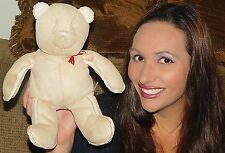"""Baby Gap Beige Sherpa Faux Suede Teddy Bear Soft Stuffed Animal Lovey 12"""" TOY"""