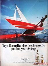1976/77 'BACARDI' Rum Advert #8 - Original (Katamaran) Print AD