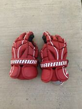 Warrior Burn Red Leather Lacrosse Gloves Size 13