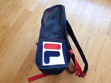 Vintage New Fila Logo Backpack Navy Shoulder Bag Sack School USA