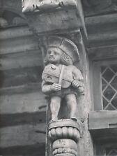 """ÉTRETAT c. 1955 -Sculpture Bois """"Musicien"""" Vieille Maison Seine Maritime- NV 664"""