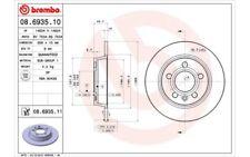 2x BREMBO Discos de Freno Traseros Pleno 268mm 08.6935.11