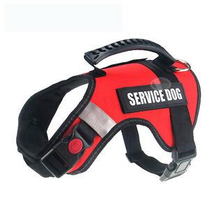 ''Service Dog'' Harness Service Reflective & 2 Patches UK  Pet Dog Vest