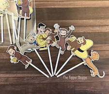 12- CURIOUS GEORGE Cupcake Toppers / Cake Toppers / Birthday Party Decorations