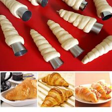 Stainless Cannoli Form Tubes Cream Roll Horn Molds Home Pastry Baking Mould UK