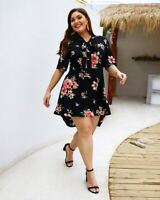 Women's Sexy Slim Dress Lady Bodycon Ball Printing Party Dress Plus Size