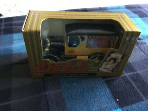 Coca Cola Diecast Bank ERTL 1923 Yellow Delivery Van Old Fashioned Coke MIB-1993