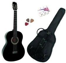 Pack Guitare Classique 3/4 (8-13ans) Pour Enfant Avec 3 Accessoires (noir)