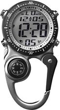 Dakota DK3087 Digi Clip Watch Silver w/Plastic Carabiner Moonglow - Gift Box