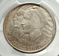 1935 ARKANSAS 100th Commemorative Silver Half Dollar US Coin PCGS MS 66 i76421
