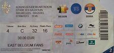 TICKET 7.6.2013 Belgien Belgium - Serbien Serbia