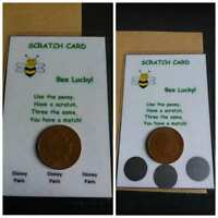 Scratch Card With Penny/Envelope - Reveal a Holiday/Disney Paris etc Any Wording