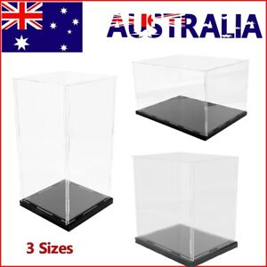 Acrylic Display Case Box Model Dustproof Large Transparent Collectibles Install